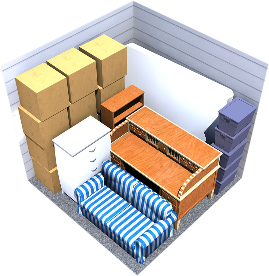 10x10 moving storage space