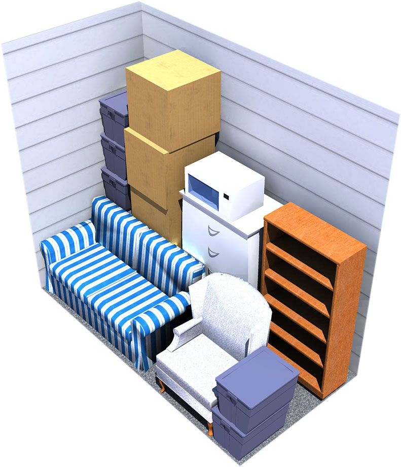 5x10 moving storage space